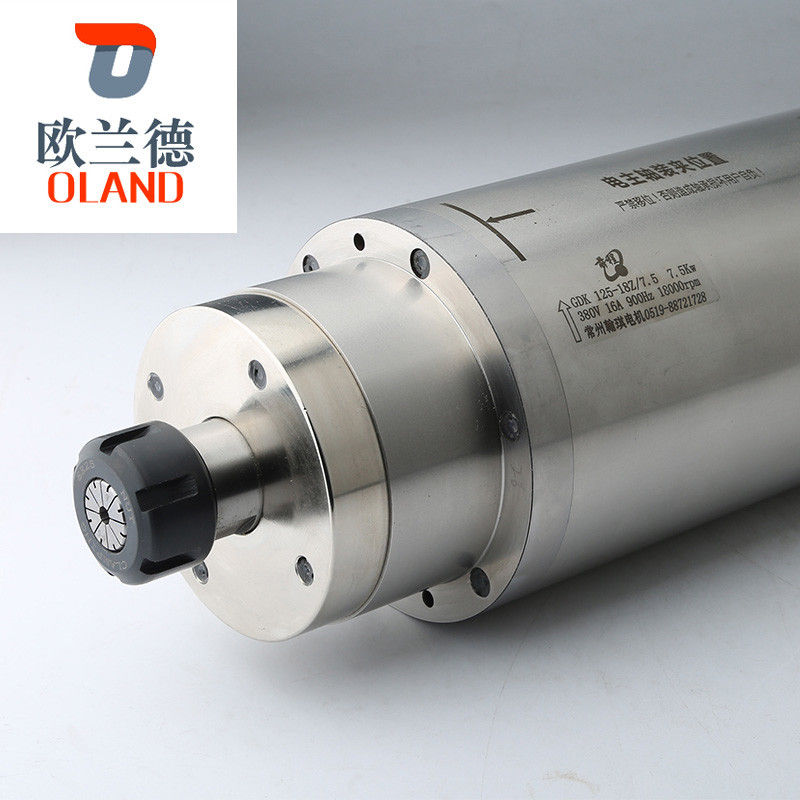 24000RPM Speed Electric Spindle Motor 125mm Diameter 220V / 380V Voltage