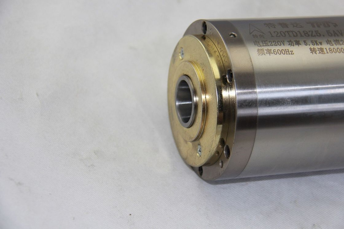 18000RPM Speed Water Cooled Router Spindle 20 / 12A Current For Milling Steel